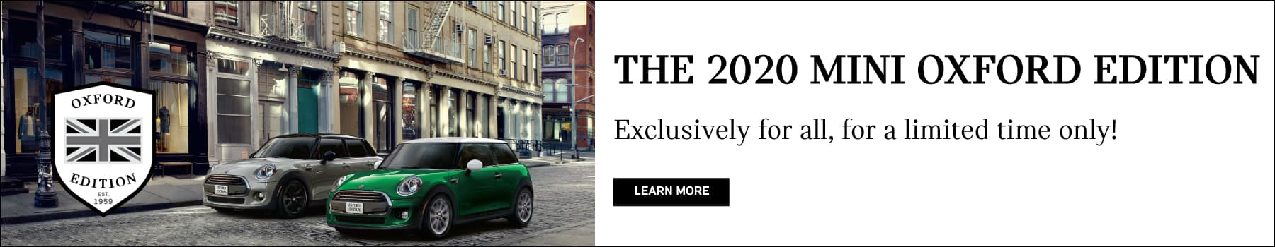2020 MINI OXFORD EDITION. Exclusively for all, for a limited time only!