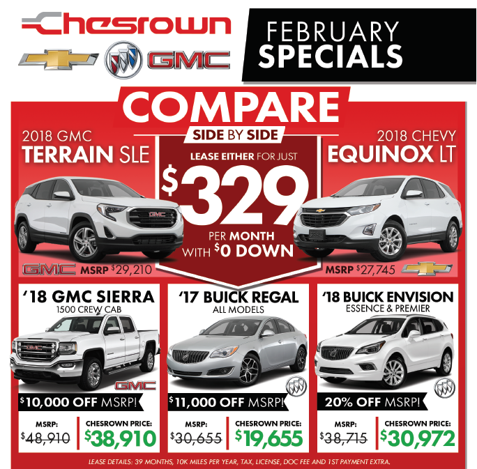 Current New Chevrolet, Buick, GMC Specials Offers