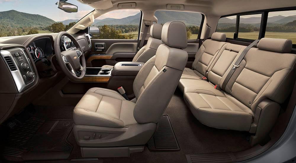 2017 Chevrolet Silverado 1500 interior seating