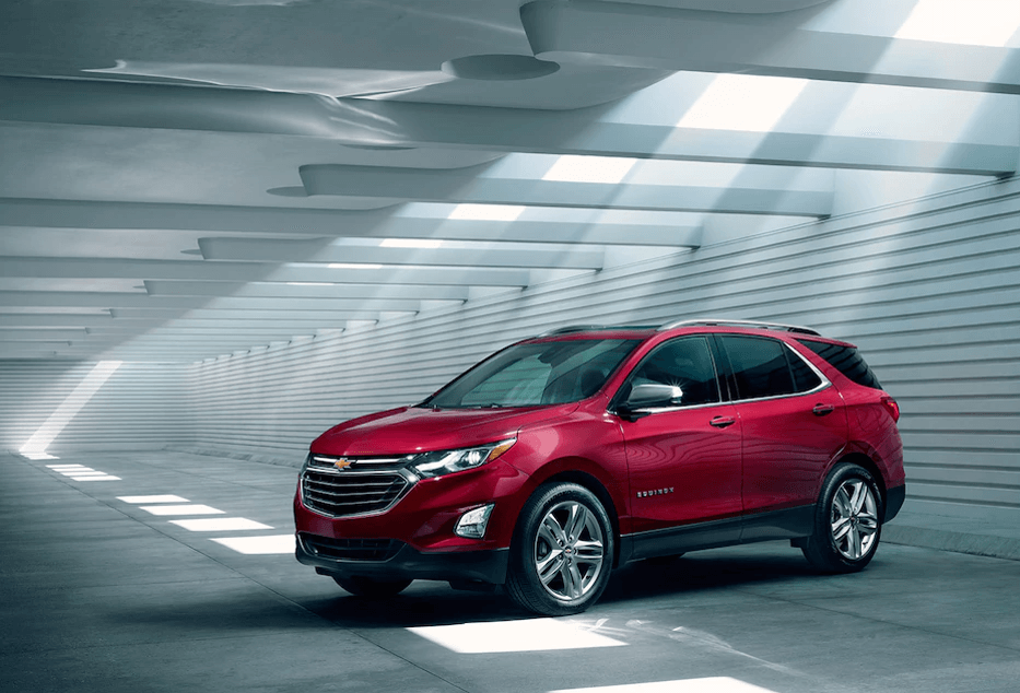 2018 Chevy Equinox red exterior model