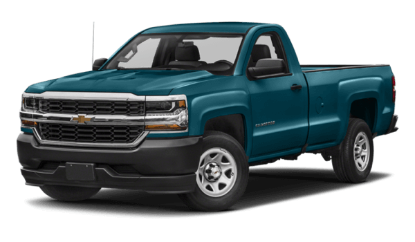 2017 Chevrolet Silverado 1500 white background