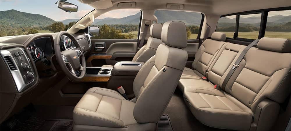 2018 Chevrolet Silverado 1500 Interior Tech Dimensions Comfort