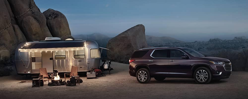 2020 Chevy Traverse at Campsite