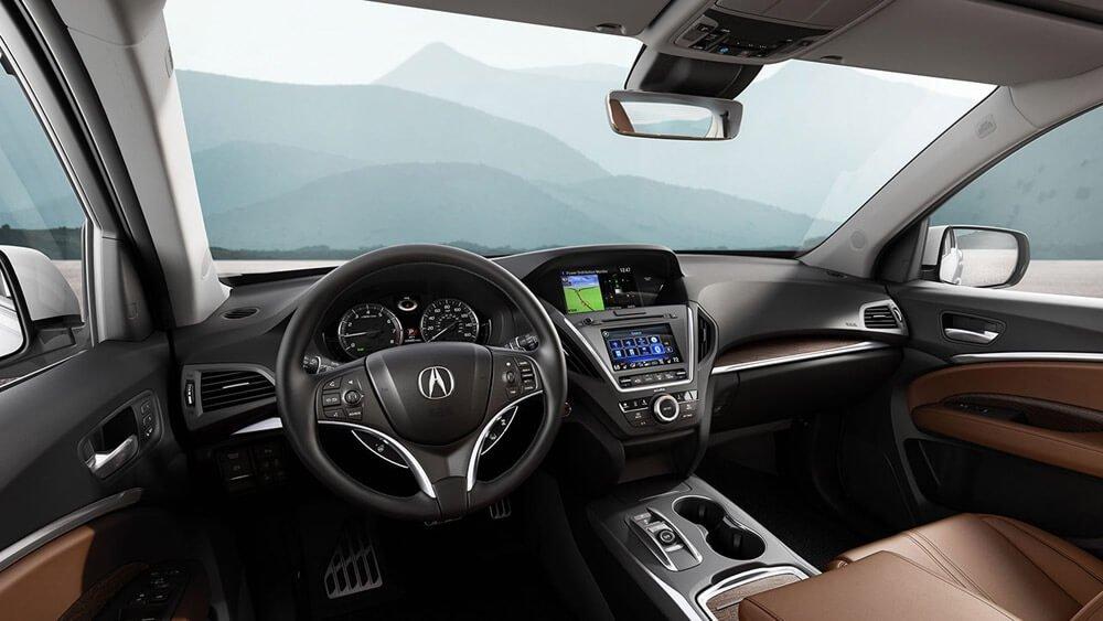 2017 Acura MDX interior dashboard