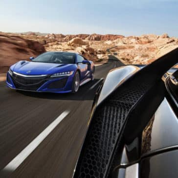 2017 Acura NSX in the desert