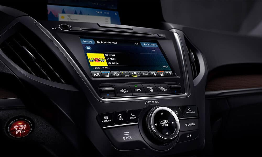 2018 Acura MDX display