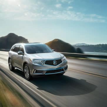 2018 Acura MDX in the sunshine