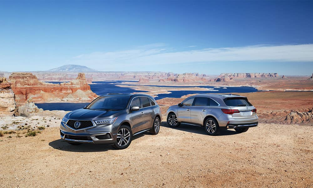 2018 Acura MDX in the desert