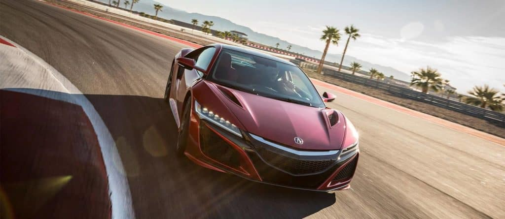 2018 Acura NSX on race track