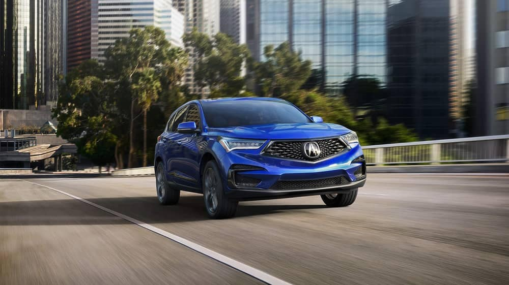 2019 Acura RDX in the city