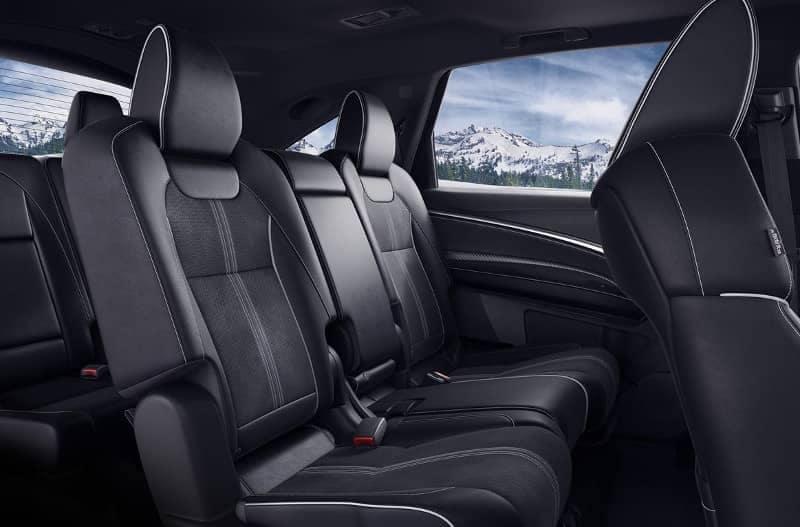 Ebony interior of 2019 Acura MDX