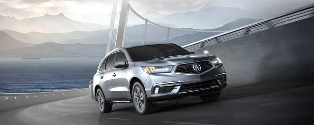 2019 Acura MDX on bridge