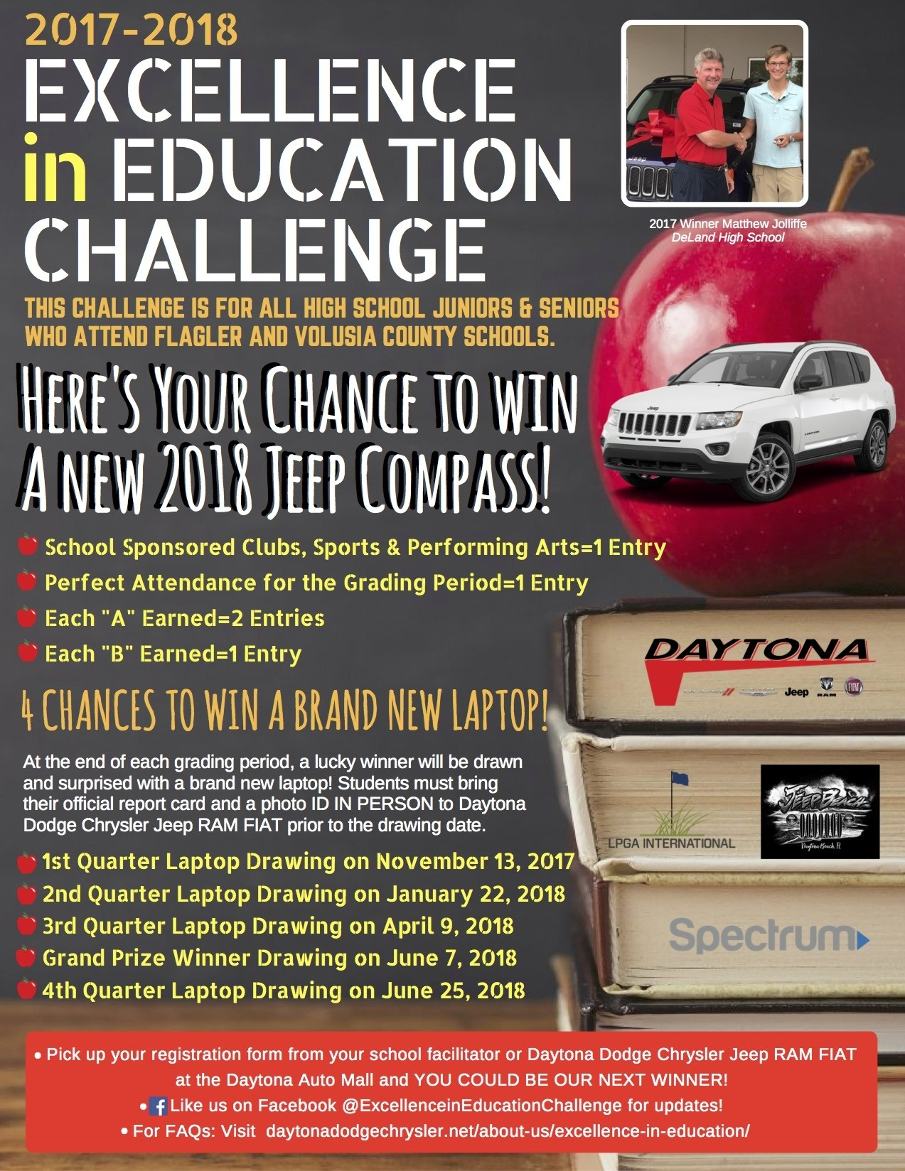 2017-2018 Excellence in Education Challenge! This challenge is for all high school juniors and seniors who attend Flagler and Volusia County Schools.
