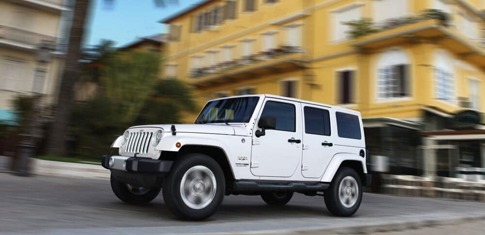 2018 Jeep Wrangler JK white exterior model