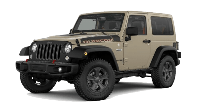 2018 Jeep Wrangler Rubicon white background