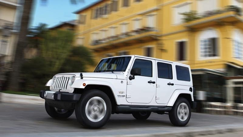 2018 Jeep Wrangler JK Unlimited white exterior