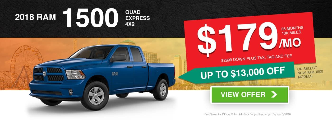 2018 Ram 1500 Quad Express 4x2