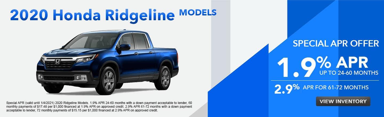 2020 Honda Ridgeline Models