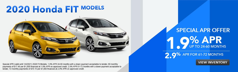 2020 Honda Fit Models