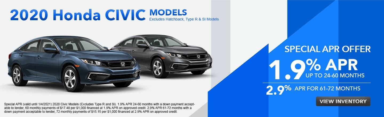 2020 Honda Civic Models