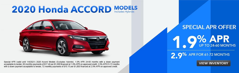 2020 Honda Accord Models