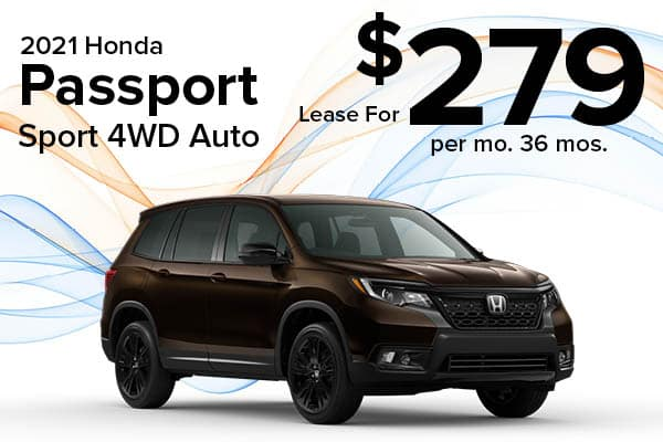 New 2021 Honda Passport AWD SPORT