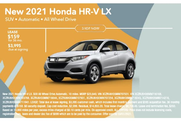 New 2021 Honda HR-V LX