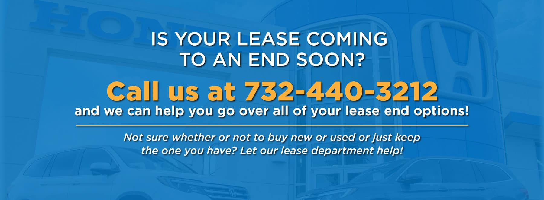 Is your lease coming to an end soon?