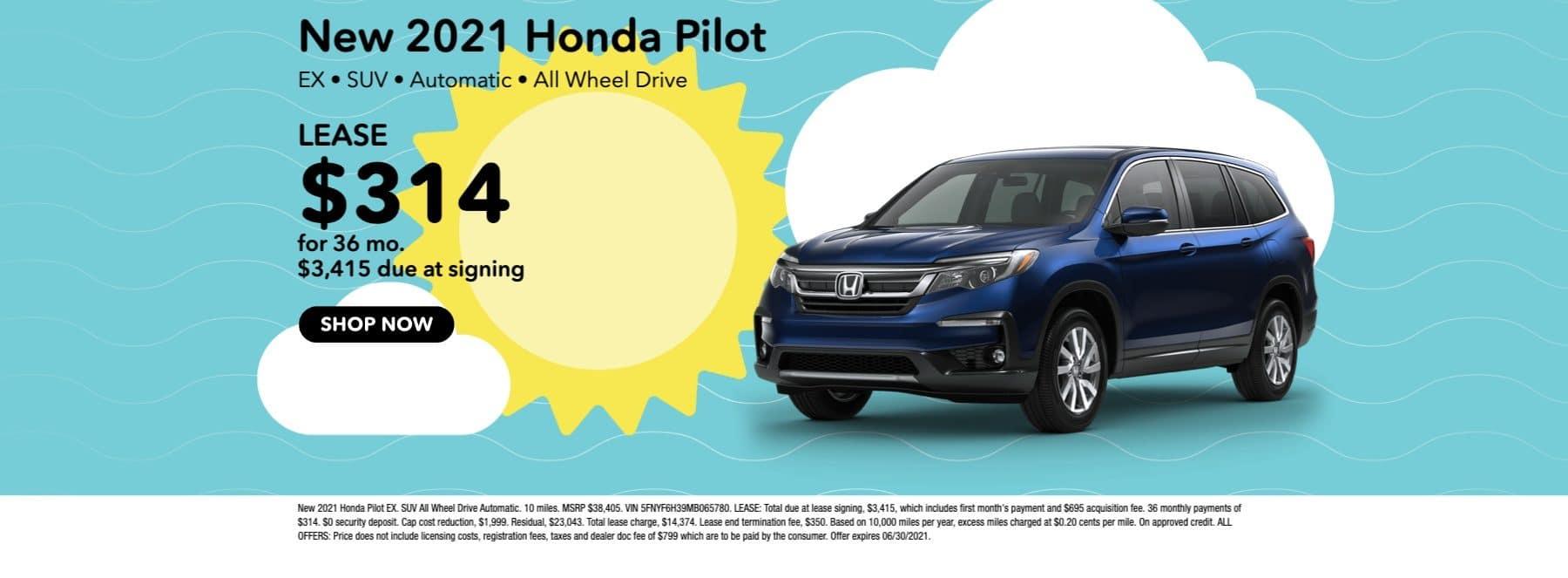 New 2021 Honda Pilot