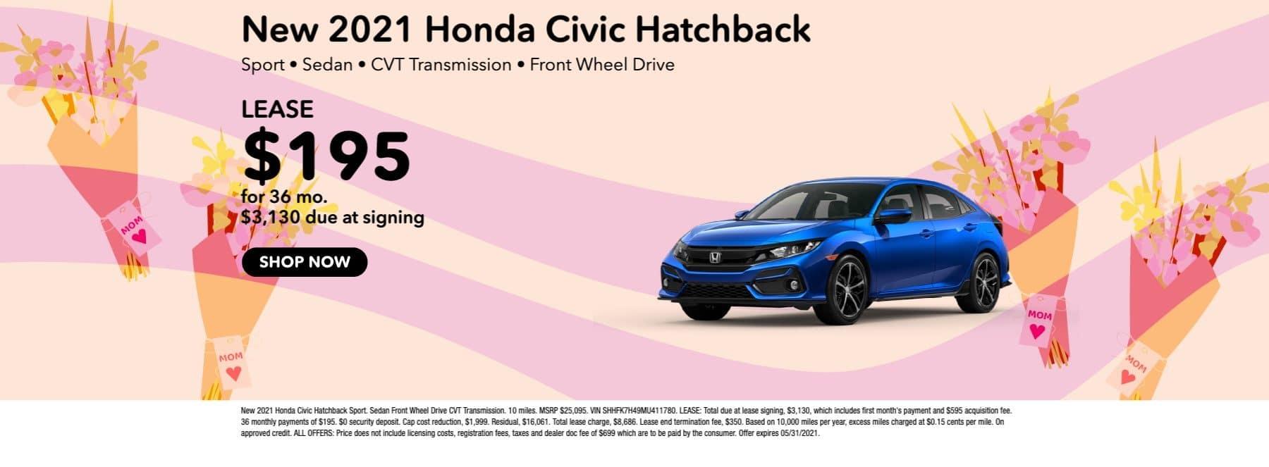 New 2021 Honda Civic Hatchback