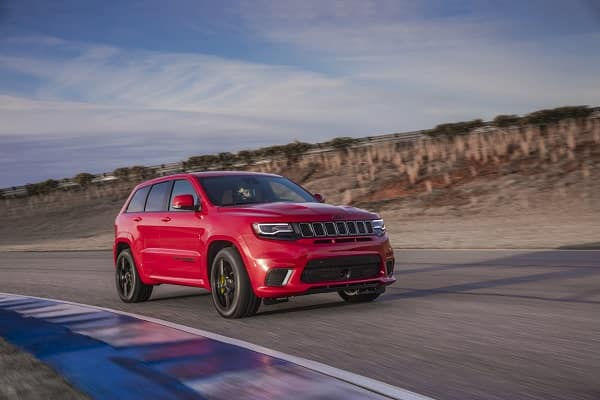 Red 2018 Jeep Grand Cherokee