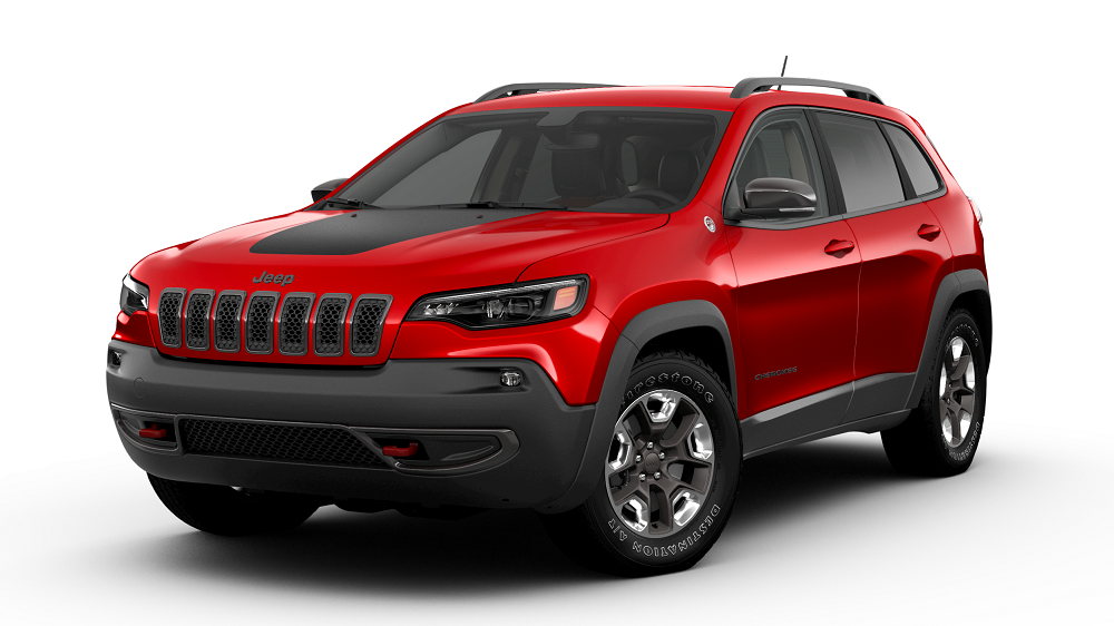 Red and Black 2019 Jeep Cherokee