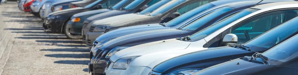 used cars on car lot