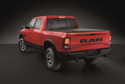 2019 Ram 1500 Rebel in Flame Red and Brilliant Black Crystal
