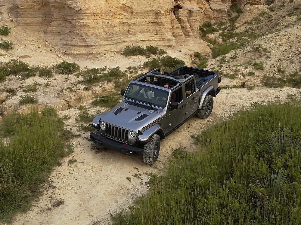 Gray 2020 Jeep Gladiator Off-Roading
