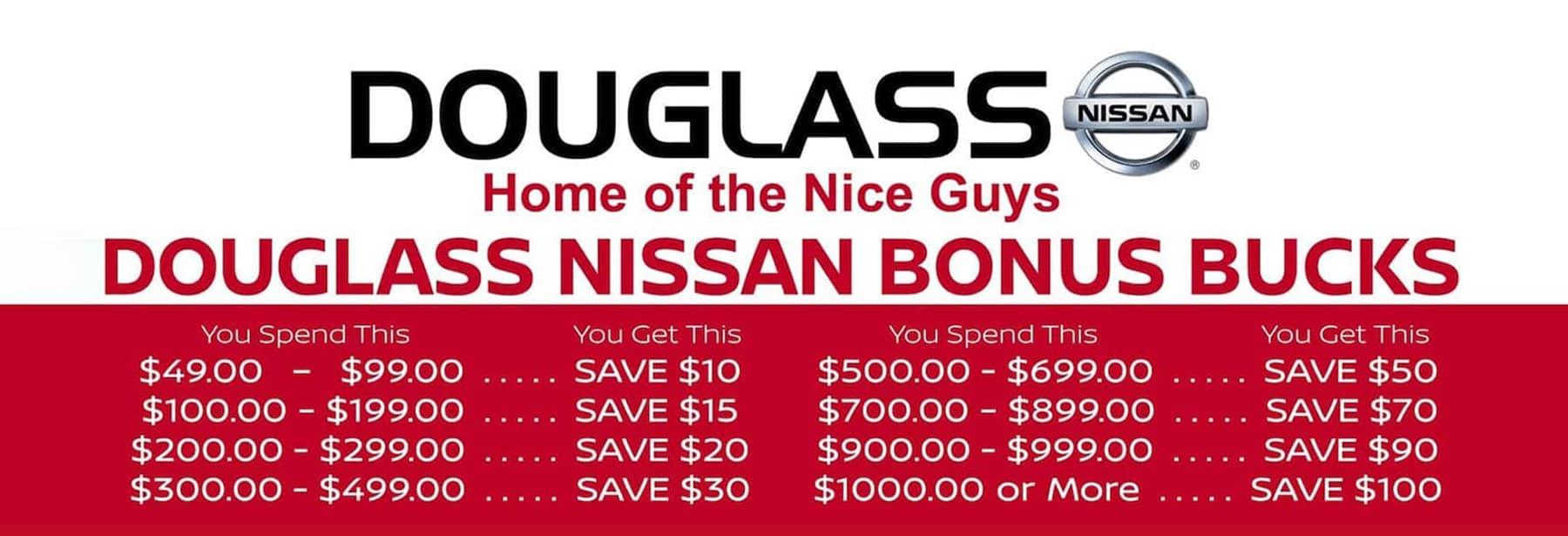 Nissan Bonus Bucks