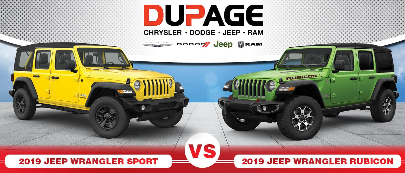 2019 Jeep Wrangler Sport vs. Rubicon