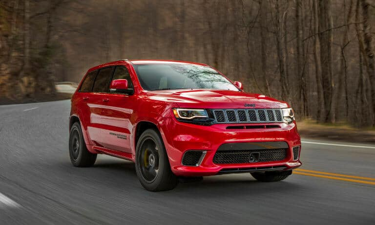2019 Jeep Grand Cherokee exterior driving in woods