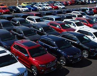 Used Vehicle Inventory Lot