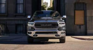 2019 RAM 1500 in city alley