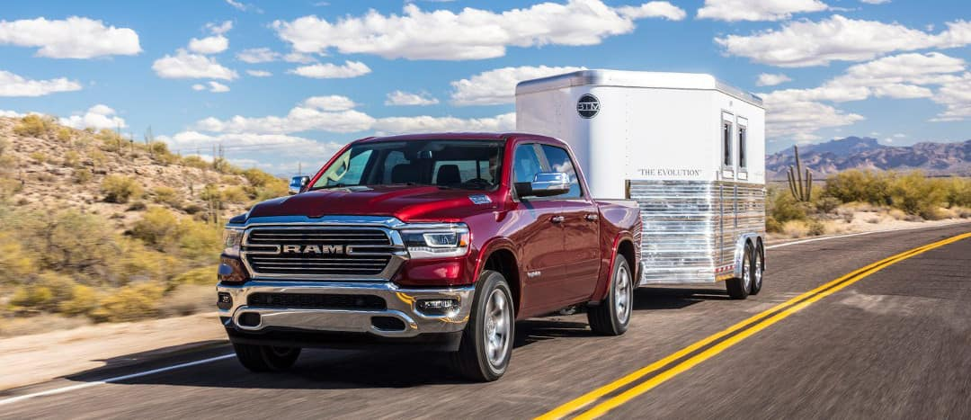 2019 Ram 1500 towing small trailer