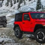 2018 Jeep Wrangler in Red and Grey