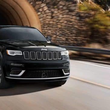 2019 Jeep Grand Cherokee on road