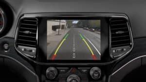backup camera display in 2019 Jeep Grand Cherokee