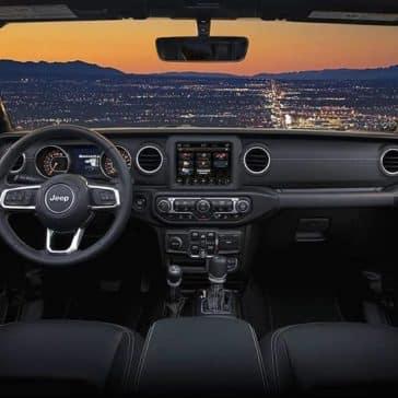 dashboard of 2019 Jeep Wrangler