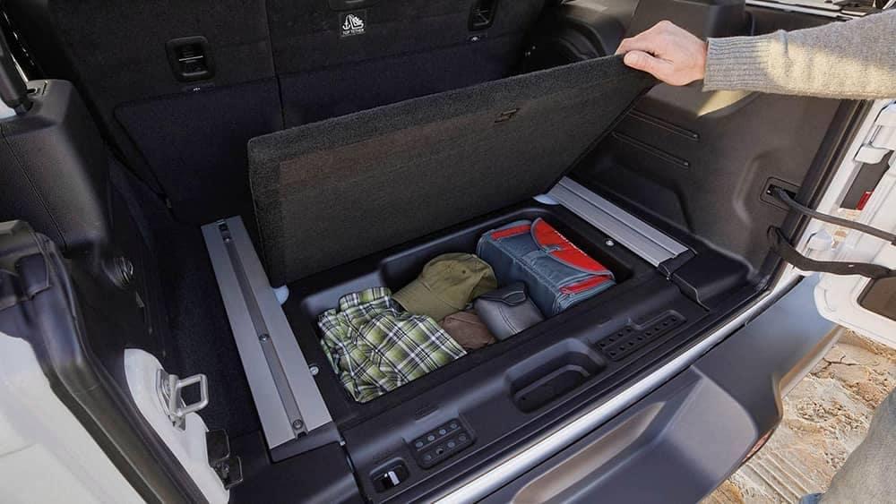 hidden storage in 2019 Jeep Wrangler