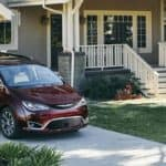 2019 Chrysler Pacifica Parked in Driveway