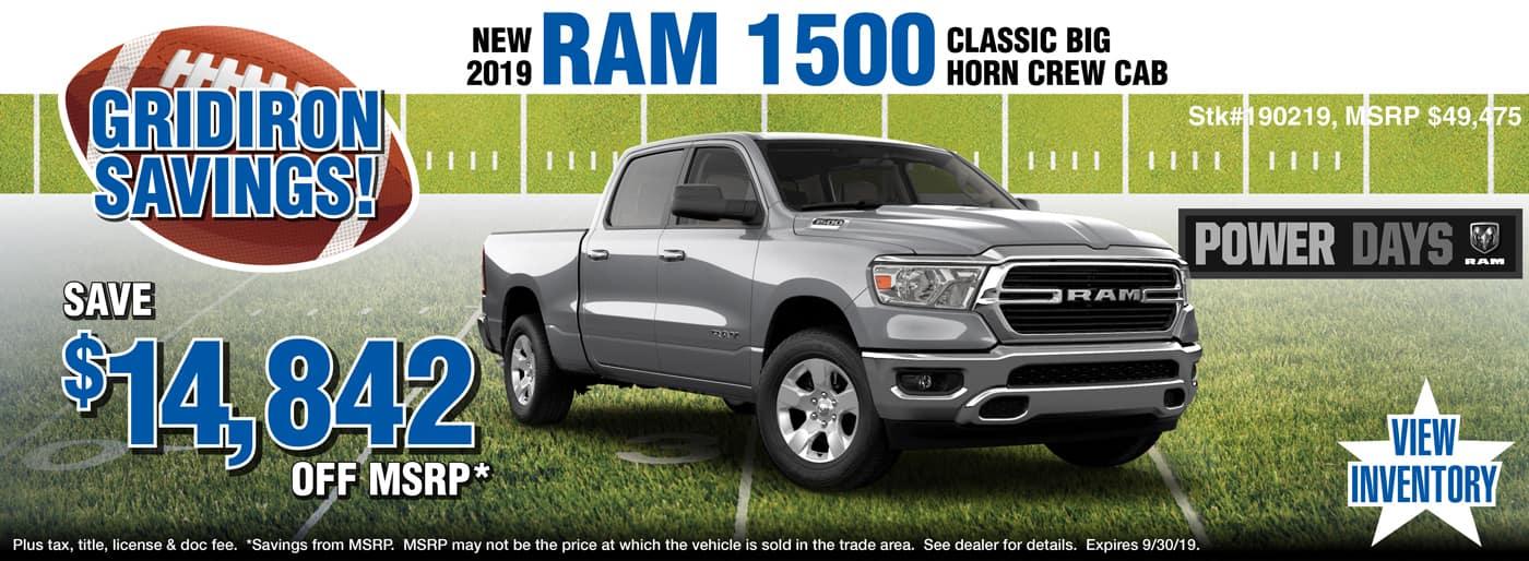 2019 Ram 1500 Big Horn Classic Crew Cab