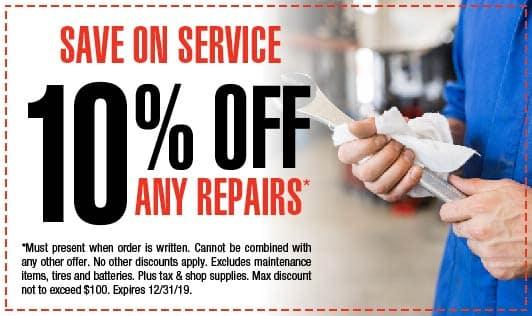 10% off repairs