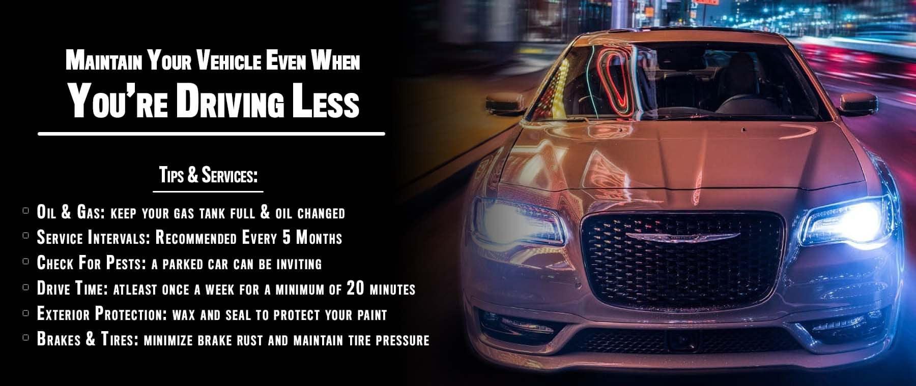Vehicle Maintenance When Driving Less